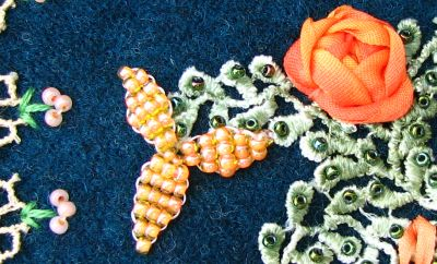Orange Beaded Flower